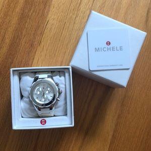 Michele rubber band wrist watch